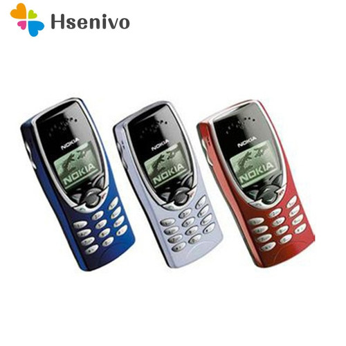 2pcs/lot 100% Original Nokia 8210 Unlocked Mobile Phone 2G Dualband GSM 900/1800 GPRS Classic Cheap Cell phone Free shipping