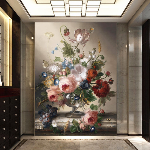 Modern Custom Mural Photo 3D Floral Wallpaper Flower Wall Room Modern Decorative Flowers.Wall-Apers Wallpaper For Walls In Rolls