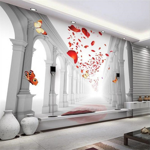 beibehang Custom wallpaper 3d photo murals European romantic wedding hall living room TV background wall painting 3d wallpaper