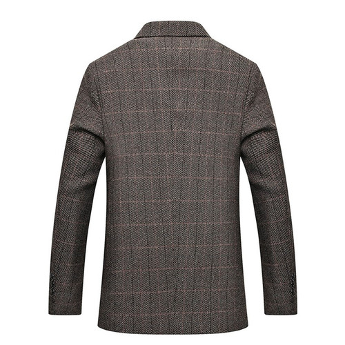 Men Blazers 2018 New Fahion Plaid Casual Blazers Men Two Buttons Suits Slim Fit Mens Blazer Jacket Spring Autumn Brand Clothing