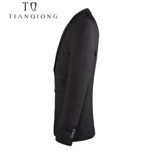 TIAN QIONG 2018 New Spring&Autumn Brand Clothing Men Blazer Fashion Cotton Suit Blazer Slim Fit Masculine Blazer Casual Black