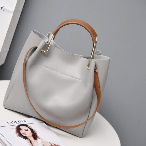 Brand Design Women Shoulder Bag Large Capacity Chain Bucket Handbags Quality PU Leather Women's Totes Shopping Bag sac a main
