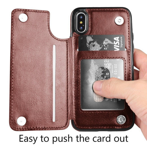 Retro PU Leather Book Flip Wallet Case For iPhone 6 6s 8 7 Plus X XR XS Max Card Holder Back Cover For Samsung S8 S9 S7 Note8