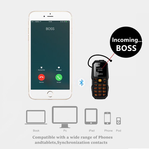 Original Phone SERVO S07 Smallest Mini Cellphone Wireless Bluetooth Earphone Ultra Low Radiation Bluetooth Dialer Dual SIM Phone