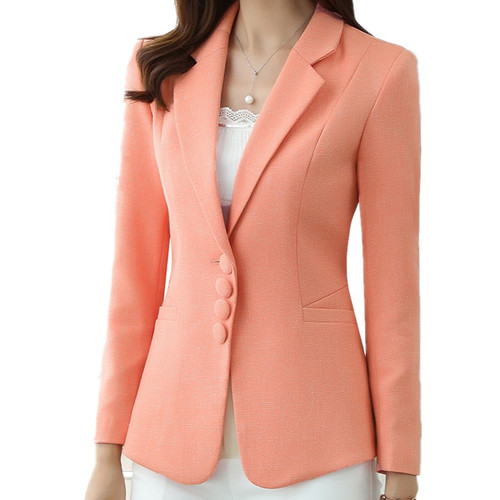 M-5XL Candy Color Short Plus Size Spring Autumn Casual Blazer Coat For Women Office Suit Jacket Fashion Blazer Feminino TT3636