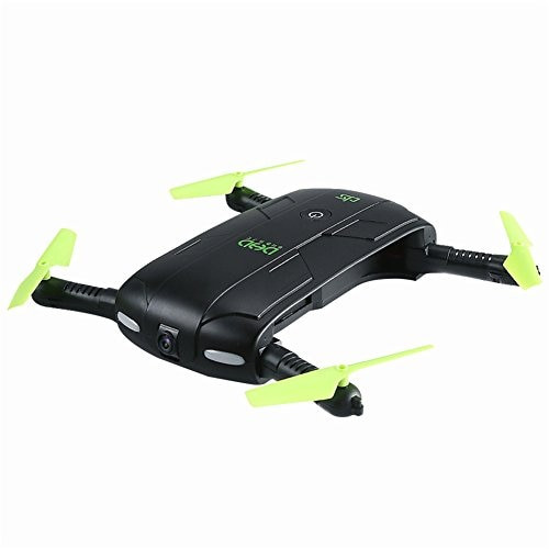DHD D5 Elfie Foldable Mini Rc Selfie Drone with Wifi FPV 0.3MP Camera Altitude Hold Headless Mode One Key Return RC Quadcopter