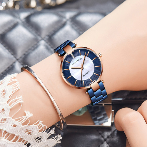 MINIFOCUS Watches Women Quartz Lady Wrist Watch Dress Women's Watches Brand Luxury Fashion Ladies Wristwatches Relogio Feminino