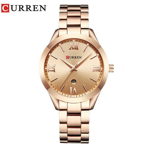 Brand Luxury Curren Watches Women Full Steel Quartz Watch 2018 Fashion Casual Ladies Dress Elegance Wristwatch relogio feminino