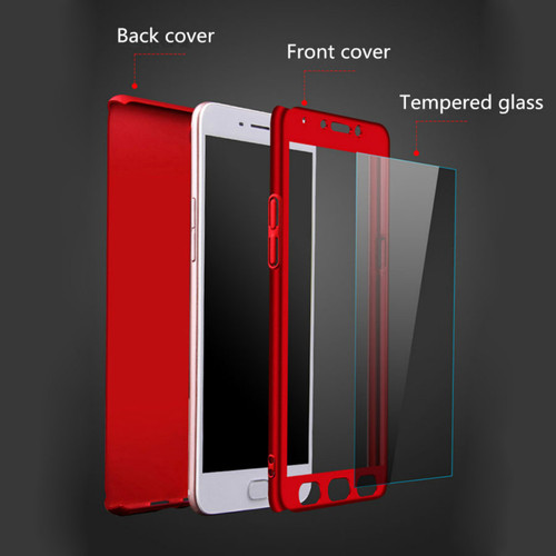 360 Degree Full Cover Cases For Redmi Note 5 Pro 4 4X Redmi 4A 4X 5 Plus 5A 6 6A S2 Cover for Xiaomi Mi 5X 6X A1 A2 With Glass