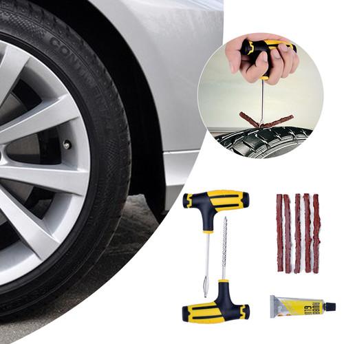 One Set Car Tire Repairing Tools Set Car Vacuum Tires Repairing Tools Patch Car Professional Accessories Puncture Tubeless Tire