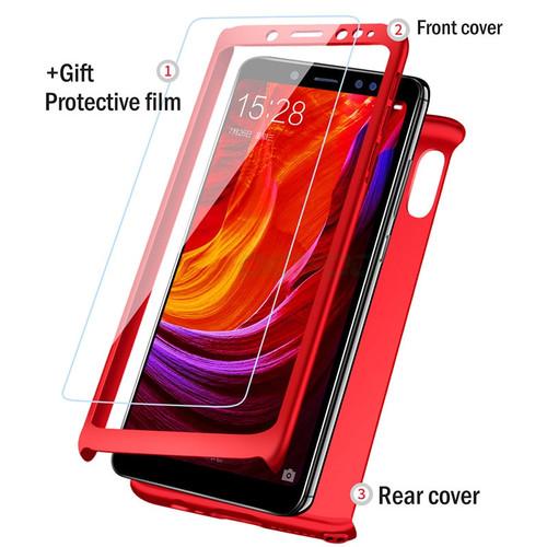 H&Afashion 360 Degree Full Cover Case For Xiaomi Redmi 4X 4A Redmi 5 Plus 5A Cases With Glass For Redmi Note 5 5A Phone Cas