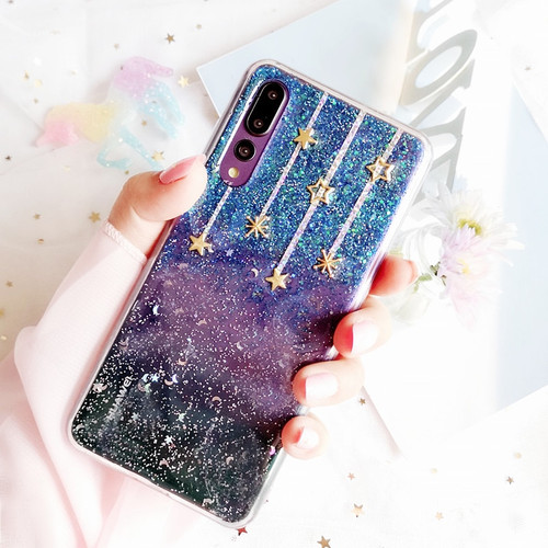 Luxury Phone Cases For Huawei p20 pro Case Silicone Glitter Stars transparent soft TPU Back Cover For huawei p20 lite p20 fundas