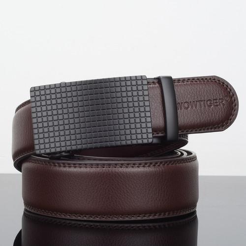 WOWTIGER New Designers Men Automatic Buckle Leather luxury Belts Business Male Alloy buckle Belts for Men Ceinture Homme