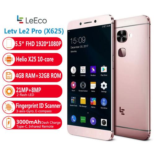Letv LeEco Le S3 (Le 2 Pro) LEX625 Helio X25 5.5''  Mobile Phone 4GB 32GB 1920*1080p  Deca Core  3000mAh Fingerprint  Smartphone