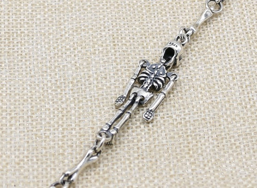100% S925 sterling silver bracelet personality fashion classic punk youth jewelry skull cross shape to send a gift of love hot