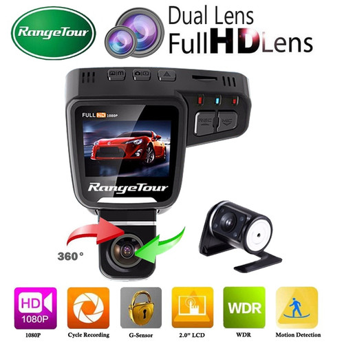 Range Tour Dual Lens Car DVR Dashboard Camera C10s Plus Full HD 1080P 2.0 Inch LCD 170 Degree G-Sensor Video Recorder Dash Cam