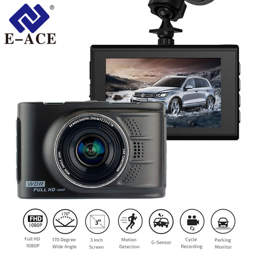 E-ACE Car Dvrs Mini Camera Novatek 96223 Dash Cam 3.0 Inch Full HD 1080P Auto Registrator Digital Video Recorder Camcorder