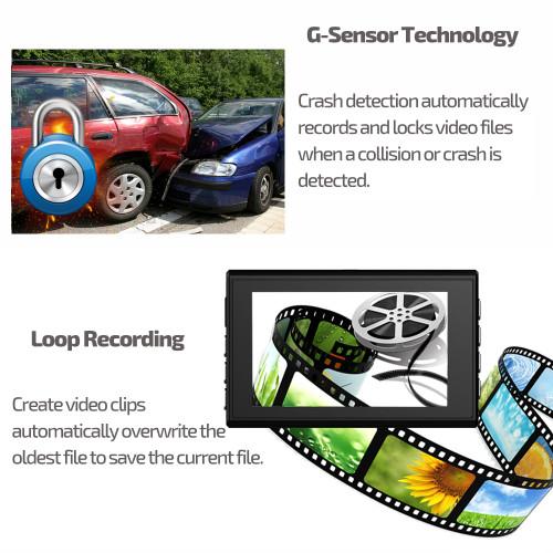 E-ACE Car Dvrs Mini Camera Novatek 96223 Dash Cam 3.0 Inch Full HD 1080P Auto Registrator Digital Video Recorder Camcorder