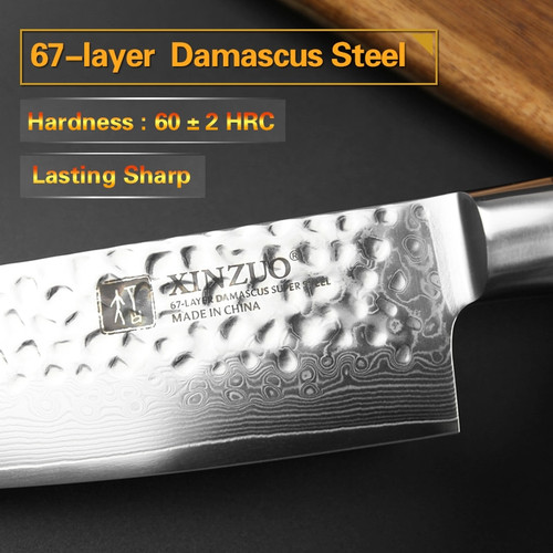 "XINZUO 8"" Chef Knife Chinese 67 Layers Damascus Steel Kitchen Knife Newarrive Professional VG10 Cooking Knife Pakkawood Handle"