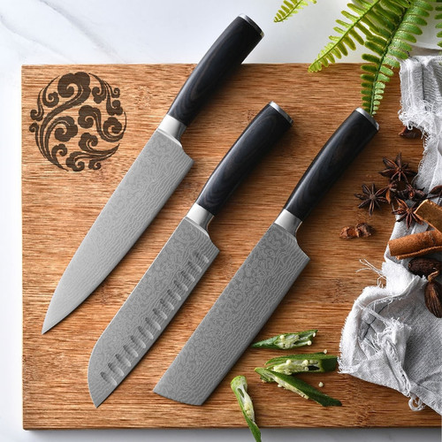 FHEAL Kitchen Knives 7 8 inch Stainless Steel Professional Chef Knives Wood Handle Japanese Knife Meat knives Cooking Tools