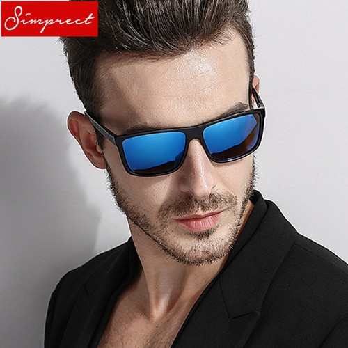 SIMPRECT 2019 Square Polarized Sunglasses Men UV400 High Quality Driving Mirror Sun Glasses Vintage Lunette De Soleil Homme