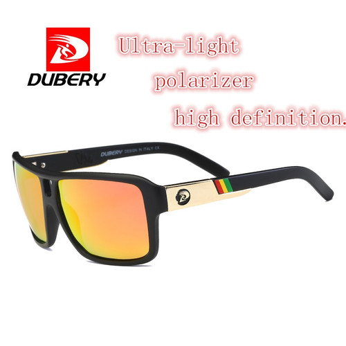 DUBERY 2018 Men's Polarized Dragon Sunglasses Driving Sun Glasses Men Women Sport Fishing Luxury Brand Designer Oculos