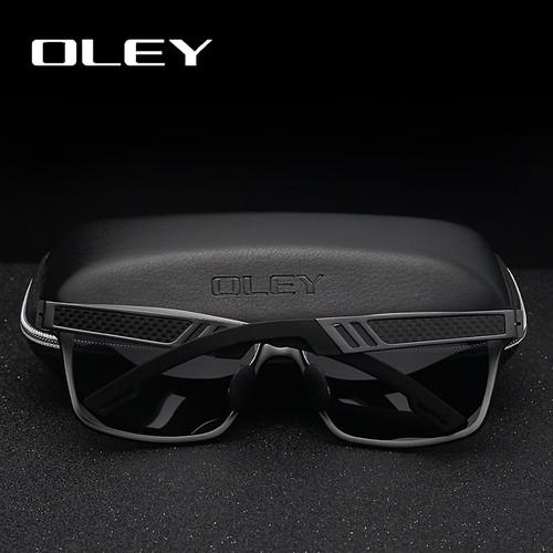 OLEY Men Polarized Sunglasses Aluminum Magnesium Sun Glasses Driving HD Glasses Rectangle For Men/Wome Oculos masculino Male