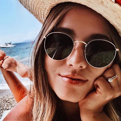 2019 Vintage Oval Small Metal Frame Sunglasses Men Women Brand Designer Sun Glasses Female Eyewear Oculos De Sol