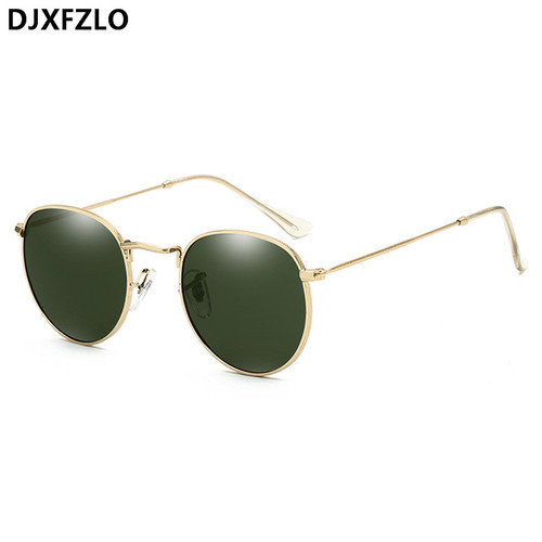 DJXFZLO Luxury Sunglasses Women/Men Brand Designer Glasses Lady Oval Sun Glasses Small Metal Frame  Oculos De Sol Gafas
