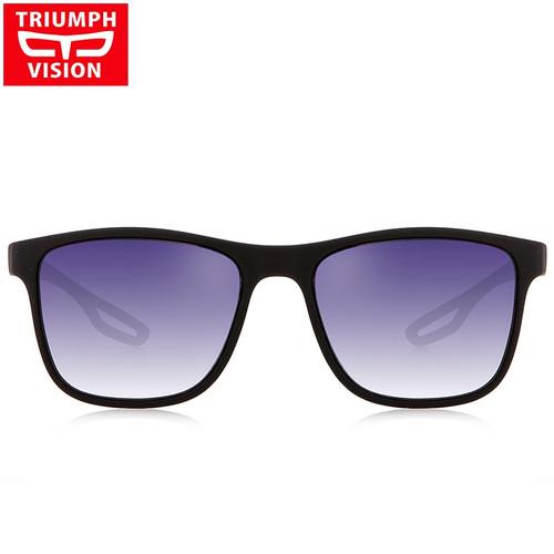 TRIUMPH VISION Oculos Masculino Polarized Sunglasses Men Driving Red Line Sun Glasses for Men Gradient UV400 Shades Gafas de sol