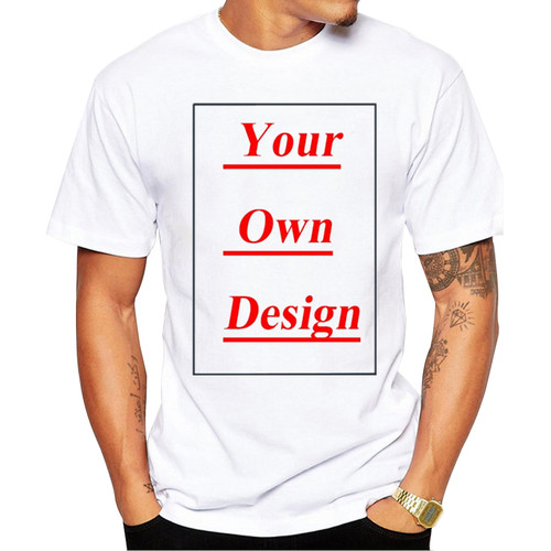 High Quality Customized Men T shirt Print Your Own Design Men Casual Tops Tee Shirts Imported