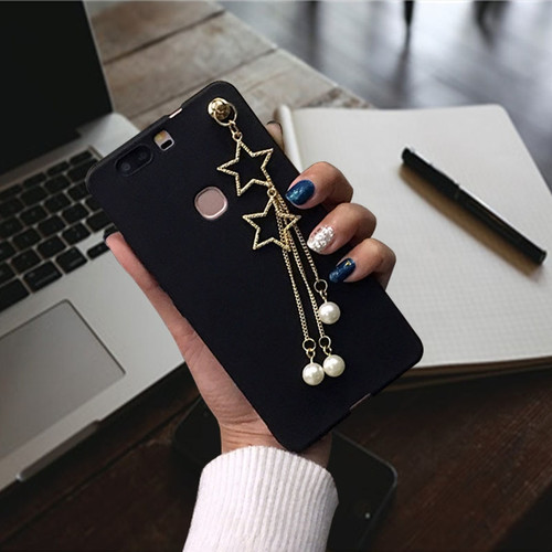 XINGYUANKE Luxury Pearl Star Pendant Phone Cases For BBK VIVO V5 Plus Case Soft Silicone Coque For VIVO V5plus Back Cover Capa