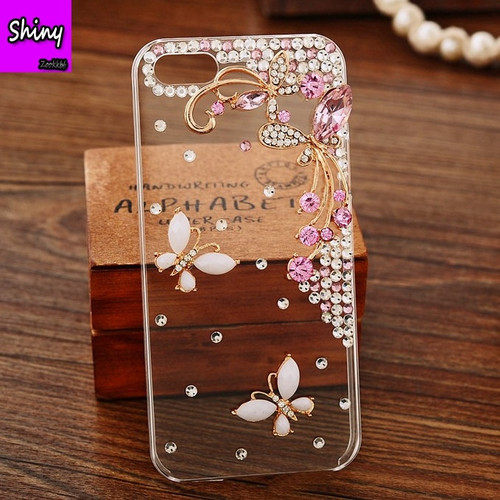 New Butterfly Luxury Bling Diamond Case For Samsung Galaxy Note 8 5 S9 S8 Plus A7 A5 A3 2016 2017 TPU Silicone Back Cover Capa