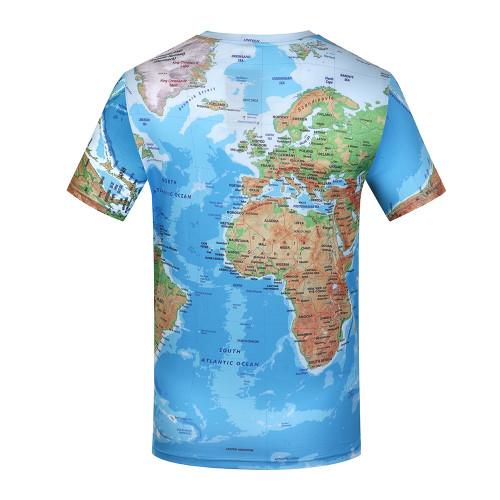 KYKU Brand 3D T Shirt Men World Map T-shirt Funny T Shirts Male 2017 Summer Short Sleeve Anime Tops Tee Fashion Mens Clothing Imported