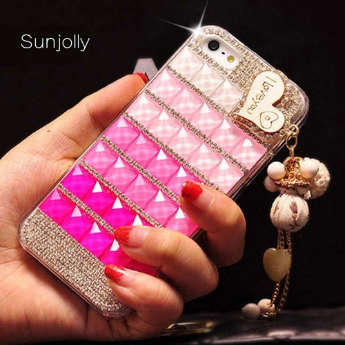 Sunjolly Diamond Case for Samsung Galaxy S9/ S8 Plus S7 S6 Edge Plus S5 S4 Note 9 8 5 4 Lips Bling Rhinestone Cover coque fundas