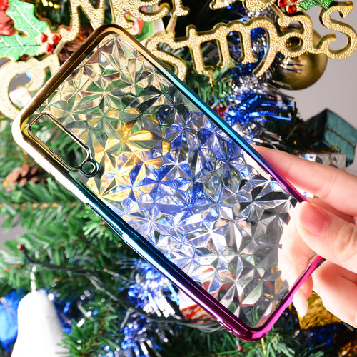 3D Gradient Diamond Rainbow Soft Case For Samsung A7 2018 Clear Silicone Case For Samsung Galaxy A7 2018 A750 SM-A750 Cover