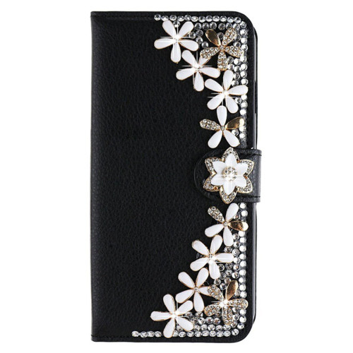 Case Cover For Samsung Galaxy A7 2018/A750, Bling Cover Diamond PU Leather Flip Cover Wallet Case