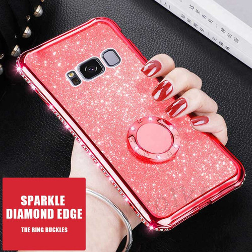 Luxury Plating Soft TPU Phone Case For Samsung Galaxy S10 Lite S9 S8 A7 A6 A8 Plus 2018 Note 9 8 S7 Bling Diamond Silicone Cover