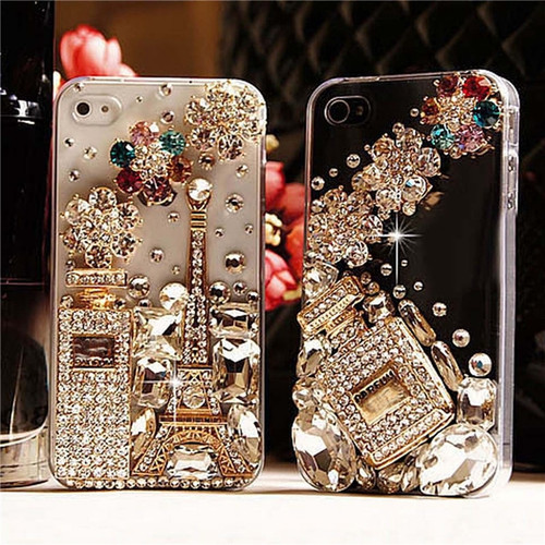 Bling Diamond Crystal Perfume Bottle Eiffel Tower Cases For Samsung Galaxy note9 8 S8 S9 Plus S6 S7 Edge A5 A7 J3 J5 J7 Prime