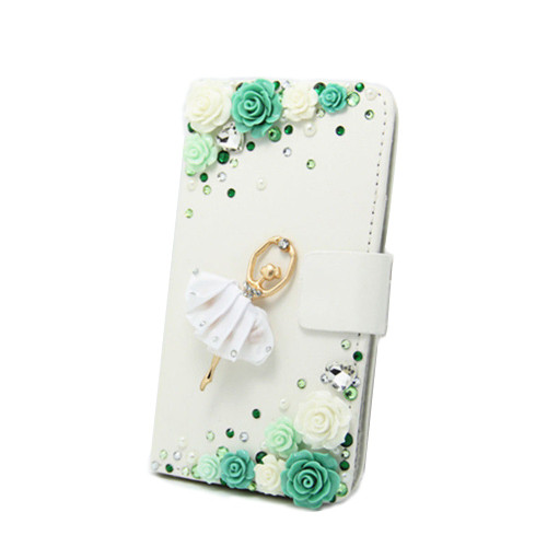 Unique&Beautiful Phone Case For Samsung galaxy J7 2016 J710,Bling Crystal Diamond PU Leather 3D Handmade Wallet Stand Flip Cover