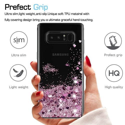 Luxury Diamond Quicksand Glitter Stars Hearts Liquid Phone Cases For Samsung Galaxy S6 S7 Edge S8 Plus Note 8 3 Note 4 5 Cover