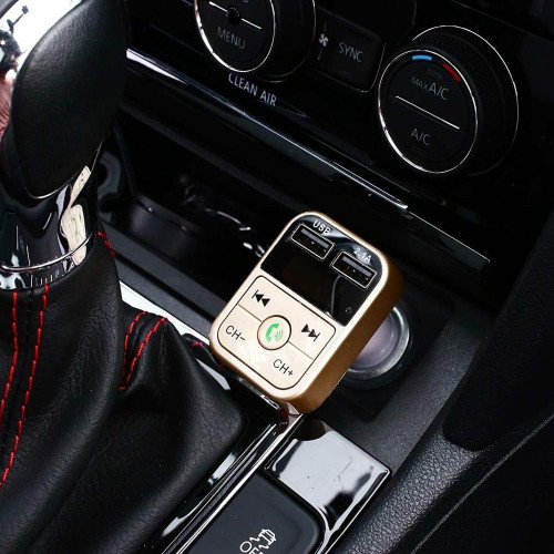Car Charger FM Transmitter Aux Modulator Bluetooth 4.0 Car Kit Hands Free Wireless Bluetooth LCD MP3 Player Dual USB Charger