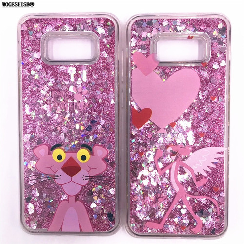 Liquid Case for Samsung Galaxy S5 S6 S7 Edge S8 S9 Plus A3 A5 J3 J5 J7 2016 2017 Unicorn Minnie Panther Soft Silicone Cover