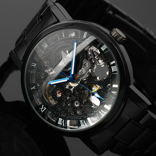 Winner Watch Men Skeleton Automatic Mechanical Watch Gold Skeleton Vintage Man Watch Mens Punk Watch Top Brand Luxury