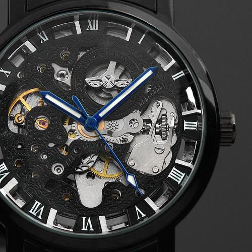 Winner Watch Men Skeleton Automatic Mechanical Watch Gold Skeleton Vintage Man Watch Mens Punk Watch Top Brand Luxury