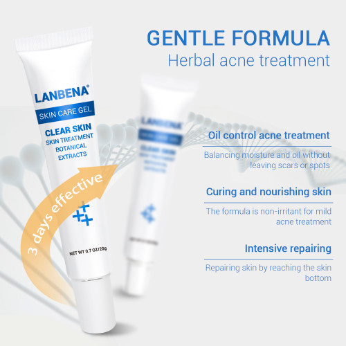 LANBENA  Face Acne Cream Skin Care Gel Remover Anti Acne Treatment Scar Removal Shrink Pores Oil Control Acne Cleaning Cream