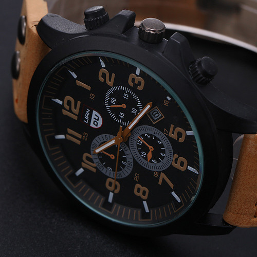 Men Watches Top Brand Men's Army Military Leather 30M Daily Waterproof Date Quartz Analog Wrist Watches Clock Relogio Masculino