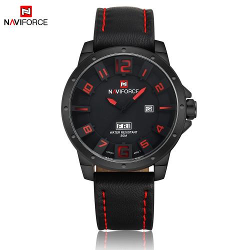 NAVIFORCE Mens Quartz Watch Fashion Watches Sport Man Leather Army Military Wristwatch Male Clock Waterproof Relogio Masculino