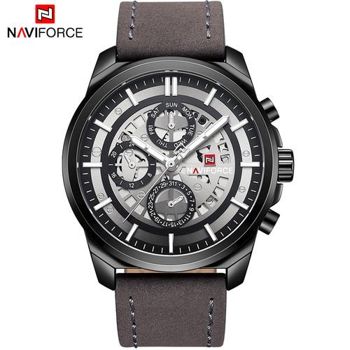 Top Brand Men Watches NAVIFORCE Men Casual Leather Date Quartz Watch Men's Week Army Military Sport Wristwatch Relogio Masculino
