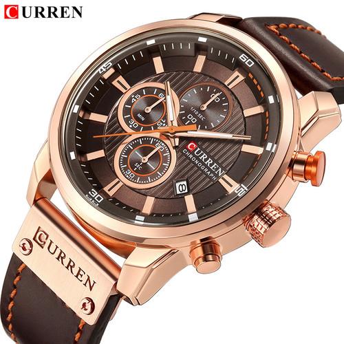 CURREN Luxury Brand Men Analog Leather Sports Watches Men's Army Military Watch Male Date Quartz Clock Relogio Masculino 2018